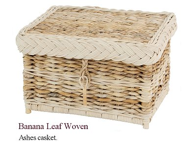 Banana leaf ashes casket