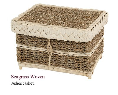 Seagrass ashes casket