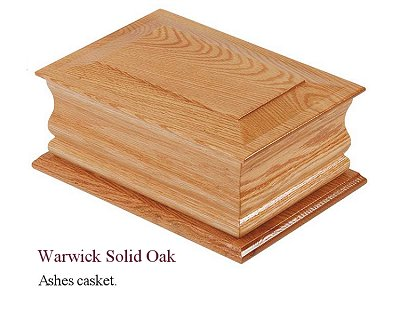 Warwick oak ashes casket